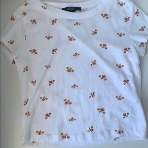 Cropped forever 21 floral T-shirt